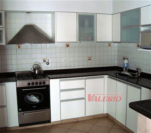 Melamina con bordes de aluminio muebles de cocina a for Muebles de cocina blancos