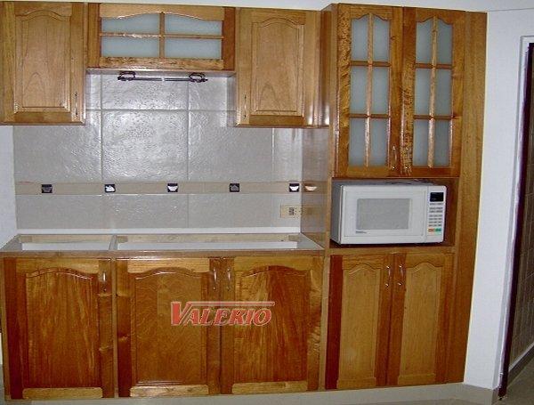 Muebles de cocina en madera de cedro natural a medida  Amoblamientos