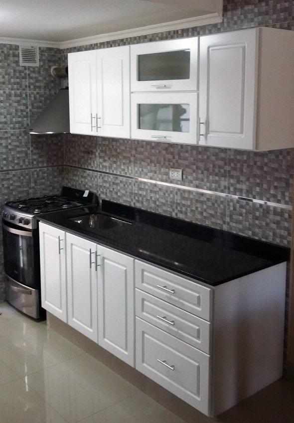 Laqueado blanco Muebles de cocina a medida - Amoblamientos para cocina