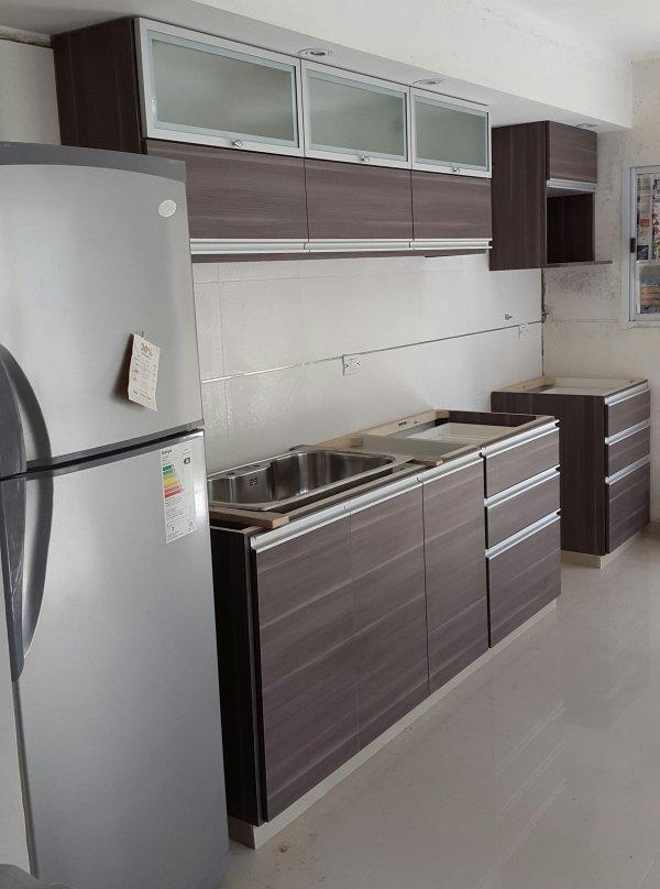 Melamina con bordes de aluminio muebles de cocina a medida amoblamientos para cocina en - Muebles para cocina a medida ...